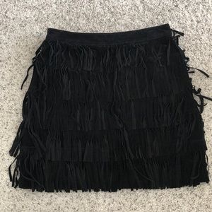 Kate Spade Suede Fringe Mini Skirt